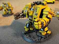 Dreadnought, Imperial Fists, Space Marines, Warhammer 40,000
