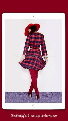 Red Checkered Dress back view