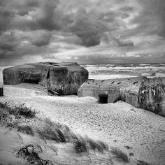 German WW2 Bunkers on the beach