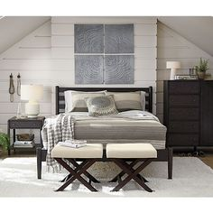 Barnes Queen Bed | Crate and Barrel