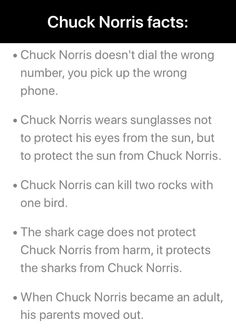 Chuck Norris doesn