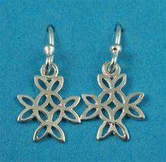 £14.00 incl tax  Sterling silver Celtic style cross earrings.  Approx 2cm drop. Cross Earrings, Kissing, Celtic, Gate, Drop, Sterling Silver, Style, Swag, Portal