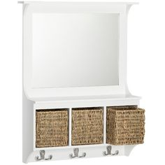 Wall Shelf: Threshold Wall Shelf White (€40) ❤ liked on Polyvore featuring home, home decor, small item storage, wall mounted coat hooks, storage hooks, wall hooks, dog wall hook and rope dog leash