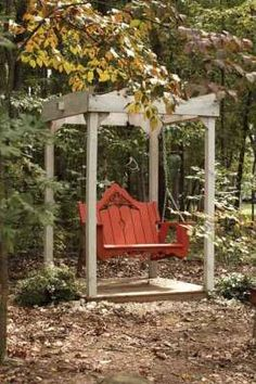 the old red swing