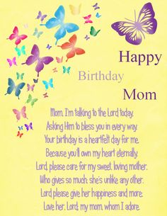 Birthday wishes for mother quotes things pinterest happy thanks kelly brought tears to my eyes birthday mom by karen cook m4hsunfo