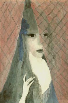 Peinture Marie Laurencin : jeune fille : la Prisonnière 1917