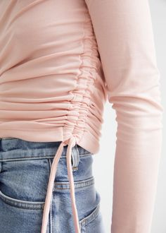 Fitted Ruched Top - Light Pink - Tops & T-shirts - & Other Stories GB