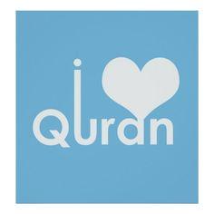 Customizable #Arabic #Arabic#Calligraphy #Inspiration #Islam #Islamic#Art #Koran #Motivation #Motivational #Quran #Quran#Verses I Heart Quran Poster (matte) available WorldWide on http://bit.ly/2hKJfGS