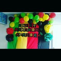 70th Birthday Parties, Baby Boy 1st Birthday, 1st Boy Birthday, Birthday Celebration, Bob Marley Birthday, Rasta Party, Jamaican Party, Country Birthday, Grenada