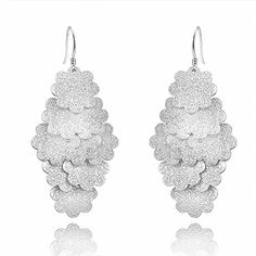 * Penny Deals * - IVYRISE Beautiful Jewelry Silver Elegant Mutil Flowers Drop Dangle Earrings 925 ** Check out this great product.
