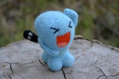 Needle Felted Wobbufet   Cute Pokemon by RunatorAFantasyWorld
