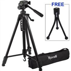 Ravelli Lightweight Aluminum Tripod, Includes Carry Bag and Universal Smartphone Mount Lomo Camera, Mini Camera, Camera Test, Best Dslr, Best Camera, Best Trampoline, Best Electric Scooter, Camera Cards, Cameras Nikon