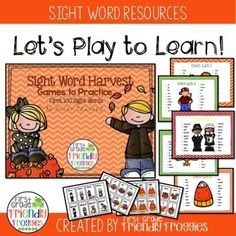 This Sight Word Mega-pack just kept growing as it was created! It includes cards and games for the first 100 sight words! Perfect for differentiation from the beginning of the year forward! Directions are included for playing a variety of games with the same materials! Easy to keep your word wor... Sight Word Games, Sight Word Activities, Hands On Activities, Sight Words, Fun Activities, Kindergarten Lesson Plans, Preschool Kindergarten, Mega Pack, Reading Intervention