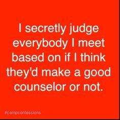 Camp confession...
