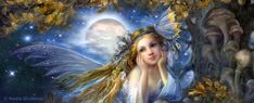 Magic night by Fantasy-fairy-angel on DeviantArt * Fairy Myth Mythical Mystical Legend Elf Faerie Fae Wings Fantasy Elves Faries Sprite Nymph Pixie Faeries Hadas Enchantment Forest Whimsical Whimsy Mischievous