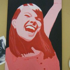 My daughter's high school art assignment...monochromatic self-portrait