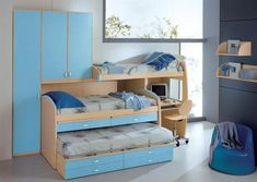Teenage boys small room ideas  Look at that bed!