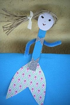 Mermaid Craft For Kids  bowtie pasta for top? /kiflieslevendula                                                                                                                                                                                 More