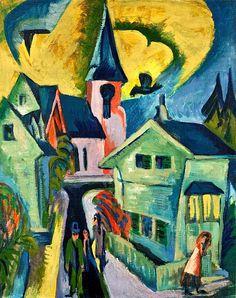 Königstein with Red Church, 1916 Ernst Ludwig Kirchner