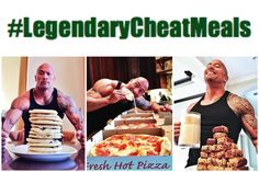 What the Rock does after 150 consecutive days of clean eating.