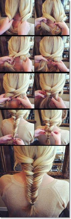 Simple Fishtail Braid Tutorial | Beauty Ideas