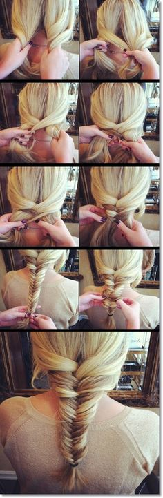 Simple fishtail braid tutorial :)