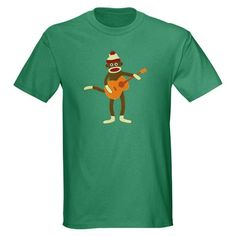 He would love this! Its a Green Shirt w a Monkey playing Guitar. Gotta find this!