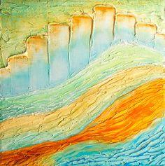 Abstract Painting Contemporary Original Acrylic by GwenDudaStudios