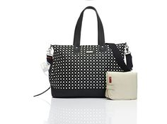 Storksak Diamonds Diaper Tote Bags, Black and White- Click image twice for more info - See a larger selection of diaper bags at http://zbabyproducts.com/product-category/diaper-bags/ - baby, infant, nursery, child, kids, baby outdoor, toddler, baby products, baby gift ideas.