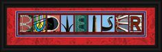 Budweiser or Clydesdales Framed Letter Art