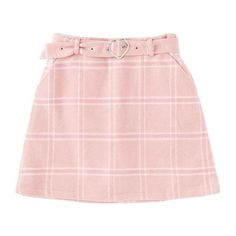 【66%OFF】チェックミニスカート ❤ liked on Polyvore featuring skirts, bottoms, clothing - skirts, pink and pink skirt