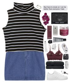 """""""☾THE TASTE OF MY LiPS"""" by siamesecat-1 ❤ liked on Polyvore featuring adidas, Monki, Cartier, Sara Happ, Maison Margiela, MAKE UP FOR EVER, Ilia, Rodin, 10 and 1O"""