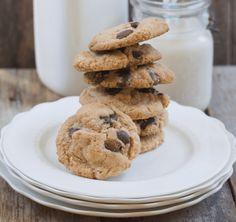 Crispy Peanut Butter Chocolate Chip Cookies