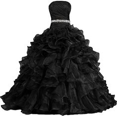 ANTS Women's Pretty Ball Gown Quinceanera Dress Ruffle Prom Dresses | Shop For Trendy | Online Trendy Shop