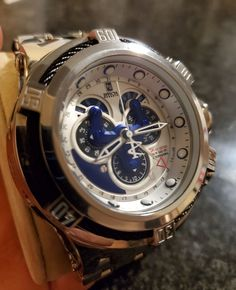Invicta Jason Taylor limited edition , high polished silver with master calendar. Regular wear and tear , minor scratches on clasp. Lux Watches, Watches For Men, Omega Watch, Black Men, Mens Fashion, Band, Silver, Suit, Accessories