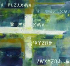"Abstract - Alma Arts Agency Olga Dacha/""Numbers 4"", 2014. Acrylic on canvas 40x40cm"