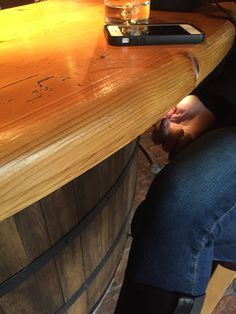 Bar Designed To Look Like Barrel