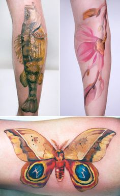 Abstract Fish And Butterfly Tattoo - Abstract Fish And Butterfly Tattoo - Butterfly Name Tattoo, Butterfly Tattoo On Shoulder, Butterfly Tattoo Designs, Cover Tattoo, I Tattoo, Tattoo Fish, Luna Moth Tattoo, Learn To Tattoo, Tattoos On Side Ribs