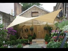 How to Make a Slide-On Wire Hung Canopy (Pergola Canopy) - YouTube