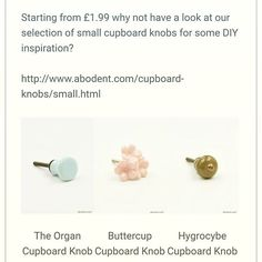 Check out our selection of small cupboard knobs for a little DIY inspiration #abodent #diy #upcycle #handles #small #t #f