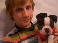 Dominic Howard and a Boston Terrier??  Yes, please!!
