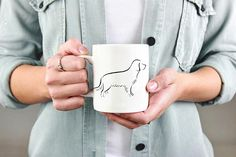 Golden Retriever ceramic mug. Golden Retriever Gift, Dog Coffee Mug, Dog Coffee Cup, Dog Lover Gift, Pet Lover Gift, Dog Gift Ideas #goldenretriever #coffeemugs #doglovers #gifts