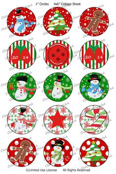 Christmas Snowmen Bottle Cap Image Sheet by SassyStringsNStitch Bottle Cap Images, Bottle Caps, Image Sheet, Christmas Snowman, Collage Sheet, Snowmen, Free Printables, Buttons, Handmade Gifts