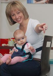 Snazzy Baby Booth 2941 - Baby knee pads, soft portable travel chair, baby carrier, non-slip leg warmers