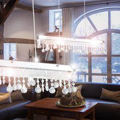 LED Design Pendel Lampe Decken Hänge Lüster Kristall Kugel Glas Behang Leuchte in Büro & Schreibwaren, Büromöbel, Leuchten & Leuchtmittel | eBay