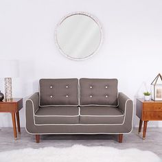 Mid-century modern with a bohemian twist. Furniture for the modern home. A loveseat is perfect for an apartment or small living room.