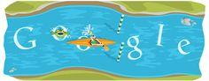 #olympics 2012 slalom canoe #googledoodle