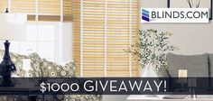 Win a $500 gift card to Blinds.com from Curbly. Check out their blog this week to see how the window decorating saga in the Curbly house is unfolding.