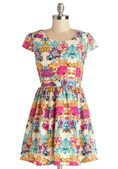 Floral Clothes, Accessories, & Decor - Pixelated Petals Dress