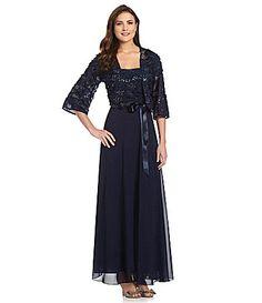 Patra Sequin Jacket Gown #Dillards